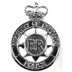 Ministry Of Defence Police Chrome Collar Badge