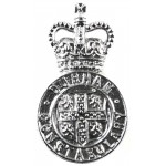 Durham Constabulary Chrome Collar Badge