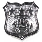 Leeds City Police Chrome Collar Badge