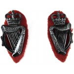 Royal Ulster Constabulary Pair Of 9 String Metal Collar Badges