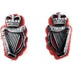 Royal Ulster Constabulary Pair Of Aluminium Collar Badges