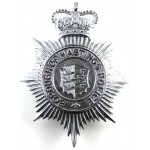 Borough Of Hastings Police Chrome Helmet Badge Post 1953