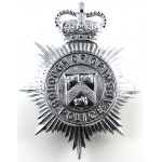 Borough Of Grimsby Police Chrome Helmet Badge Post 1953