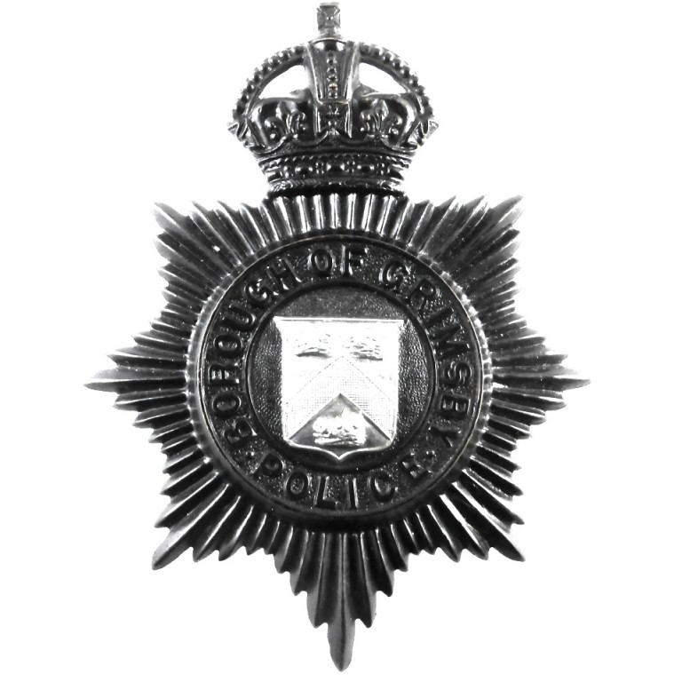 Borough Of Grimsby Police Helmet Badge 1935-52