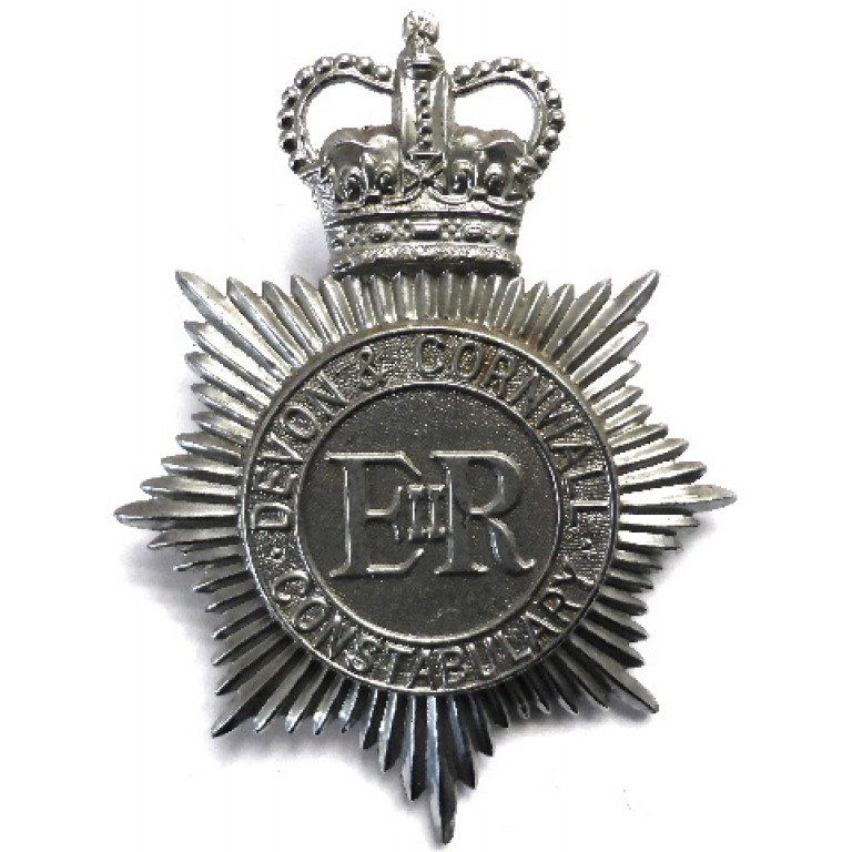 Devon & Cornwall Constabulary Chrome Helmet Badge