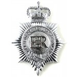 Hertfordshire Constabulary Chrome Helmet Badge