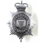 Cornwall Constabulary Chrome Helmet Badge