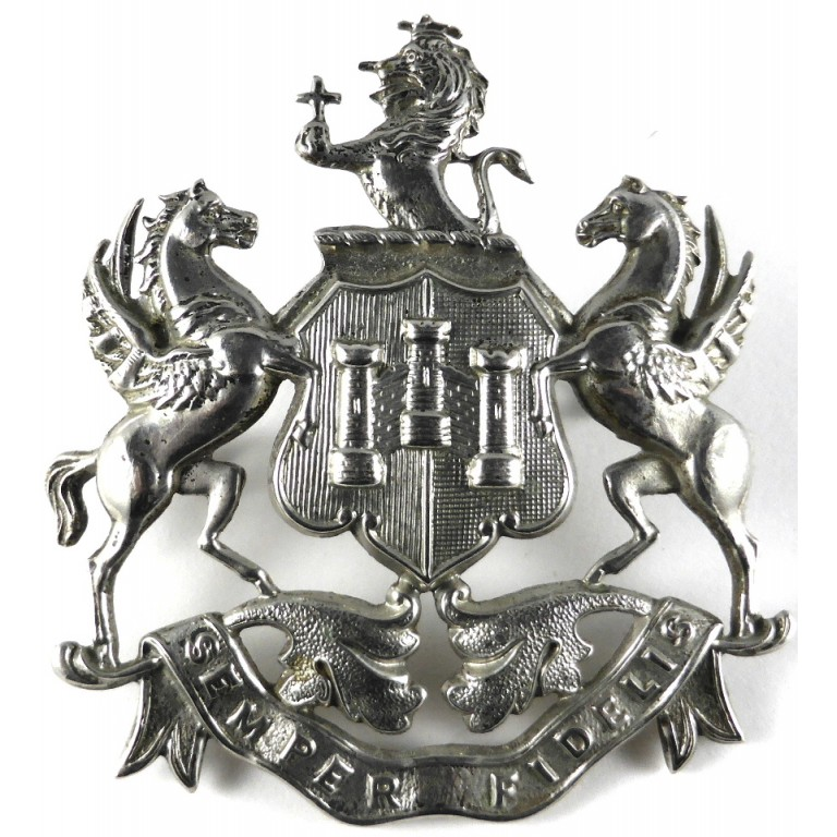 Exeter City police Chrome Helmet Badge