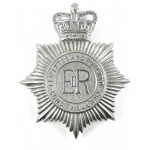 Leicester And Rutland Constabulary Chrome Helmet Badge