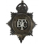 British Transport Police Pre 1953 Blackened Helmet Badge