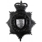 Essex Constabulary Blackened Helmet Badge Post 1953