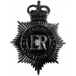 Bedfordshire Constabulary Blackened Helmet Badge