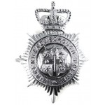 Birkenhead Borough Police Chrome Helmet Badge