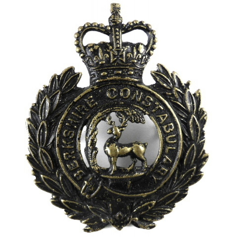 Berkshire Constabulary Blackened Helmet Badge