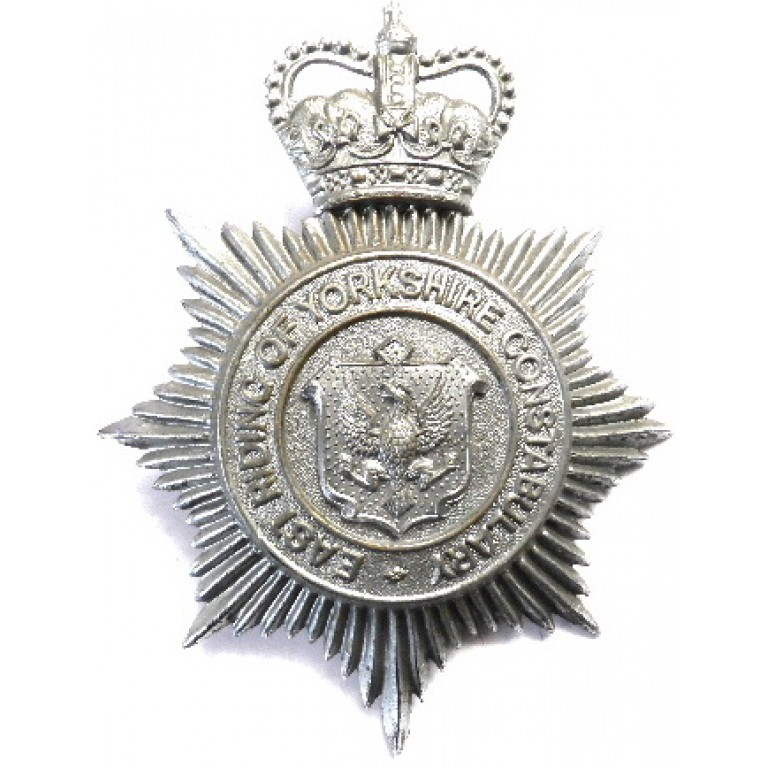 East Riding Of Yorkshire Chrome Helmet Badge