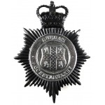Durham Constabulary Black/Chrome Helmet Badge