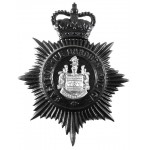 Eastbourne Borough Police Blackened Helmet Badge