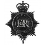 Hertfordshire Constabulary Blackened Helmet Badge