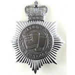 Dover Harbour Board Police Chrome Helmet Badge