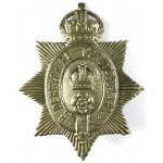 Derbyshire Constabulary White Metal Helmet Badge