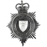 Leicestershire And Rutland Constabulary Blackened Helmet Badge