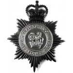 British Transport Commission Police Black/Chrome Helmet Badge