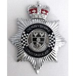 Derbyshire Constabulary Chrome/Enamel Helmet Badge