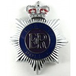 Dorset Police Chrome/Enamel Helmet Badge