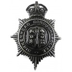 Birkenhead Borough Police Blkackened Helmet Badge Pre 1953