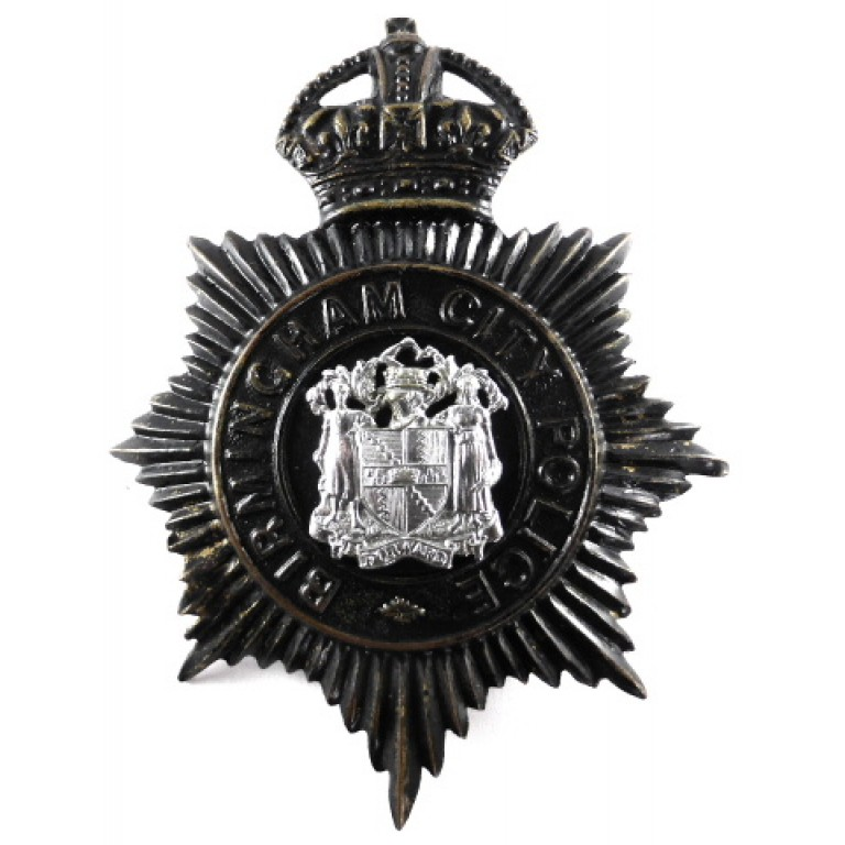 Birmingham City Police Pre 1953 Blackened Helmet Badge