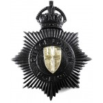 City Of London Police Blackened Mutual Aid Helmet Badge