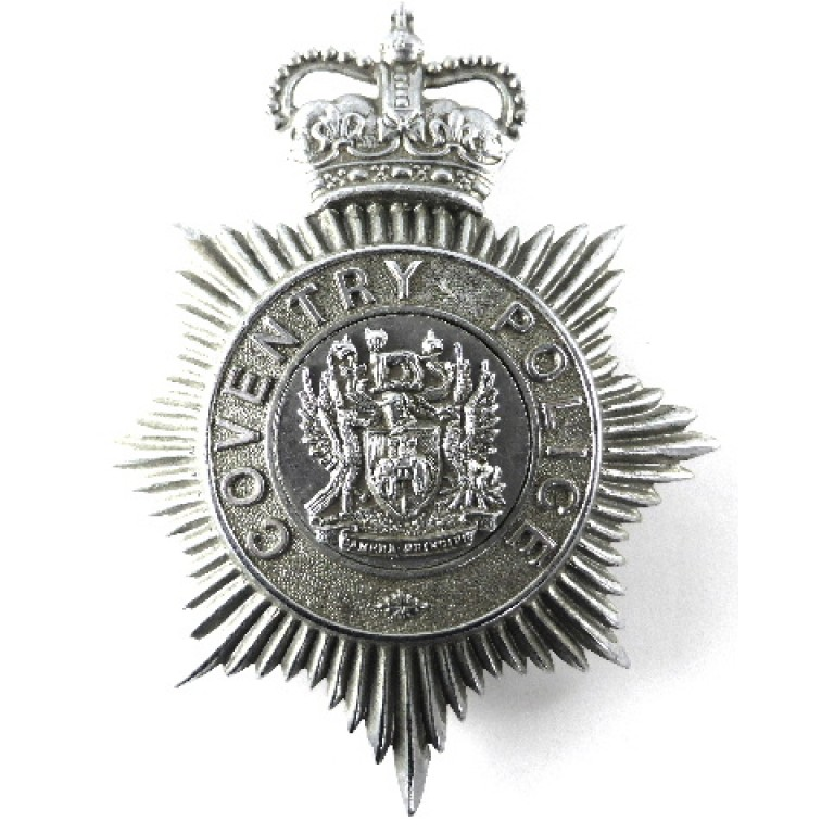Coventry Police Chrome Helmet Badge