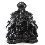 Leicester City Police Blackened Helmet Badge