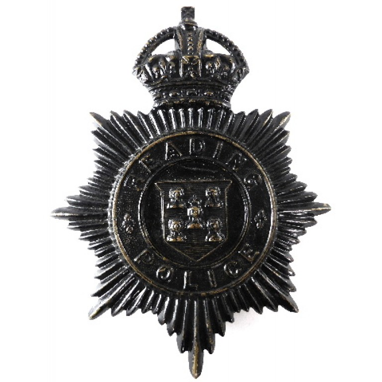 Brighton Police Blackened Helmet Badge