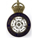 West Riding Of Yorkshire Special Constable Brass/Enamel Lapel Badge