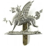 2nd Bn Monmouthshire Regiment White Metal Cap Badge