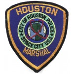 City Of Houston Police Marshal Cloth Patch