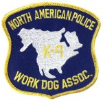 North American Police K9 Work Dog Assoc.Cloth Patch