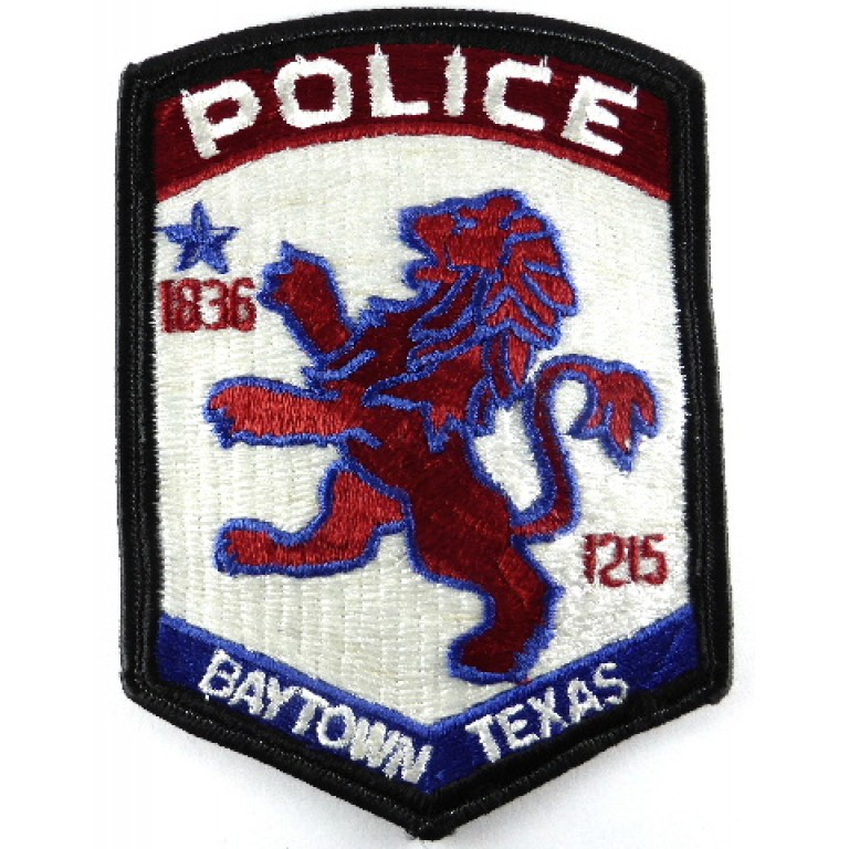 Baytown Texas Police Cloth Patch