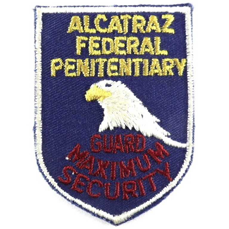 Alcatraz Federal Penitentiary Max.Security Guard Cloth Patch