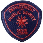 US Texas Police Driver License Cloth Patch