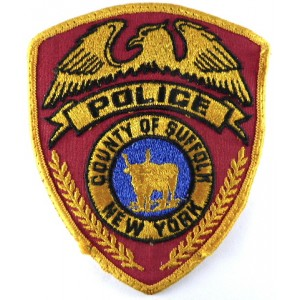 County Of Suffolk New York Police Cloth Patch