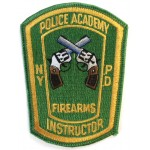 US Police Academy Firearms Instructor Cloth Patch