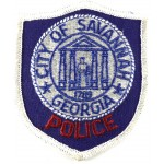 US City Of Savannah Georgia Police Cloth Patch