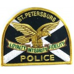 US St Petersburg Police Cloth Patch