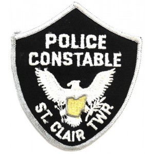 US St. Clair Police Constable Cloth Patch