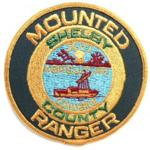 US Shelley County Mounted Ranger Cloth Patch