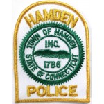 US Hamden Police Cloth Patch