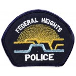 US Federal Heights Police Cloth Patch