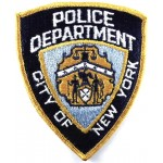US City Of New York Police Department Cloth Patch